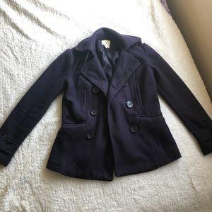 Forever 21 Midnight Purple Pea Coat